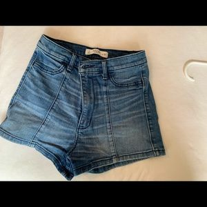 High waisted jean shorts Abercrombie and Fitch